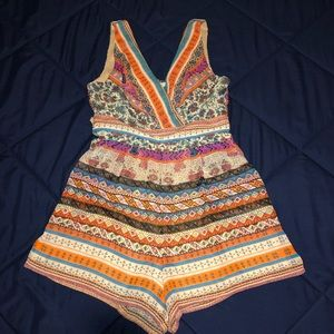 American Rag multi-colored romper size small!!!